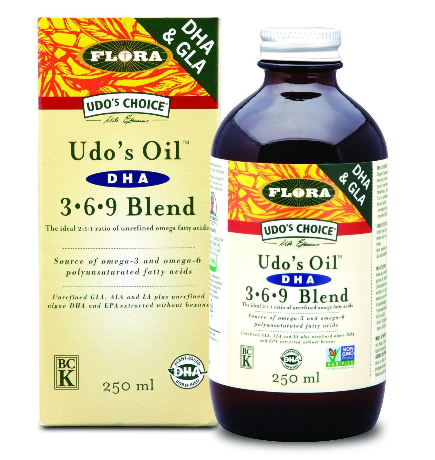 Supplements & Vitamins - Udo's Choice - Udo's Oil™ DHA 3 6 9 Blend, 250ml
