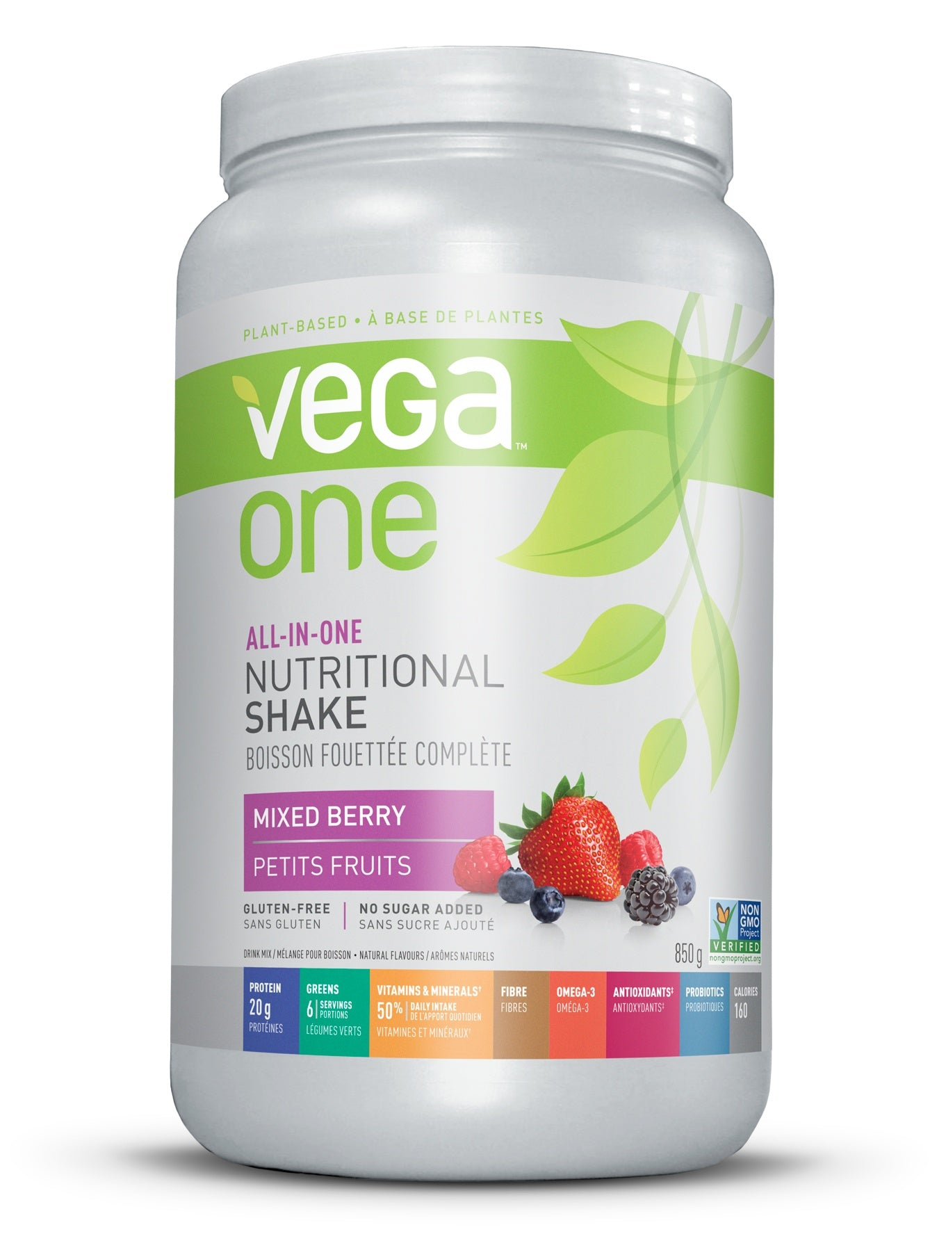 Supplements & Vitamins - Vega - Berry Nutritional Shake, 874g