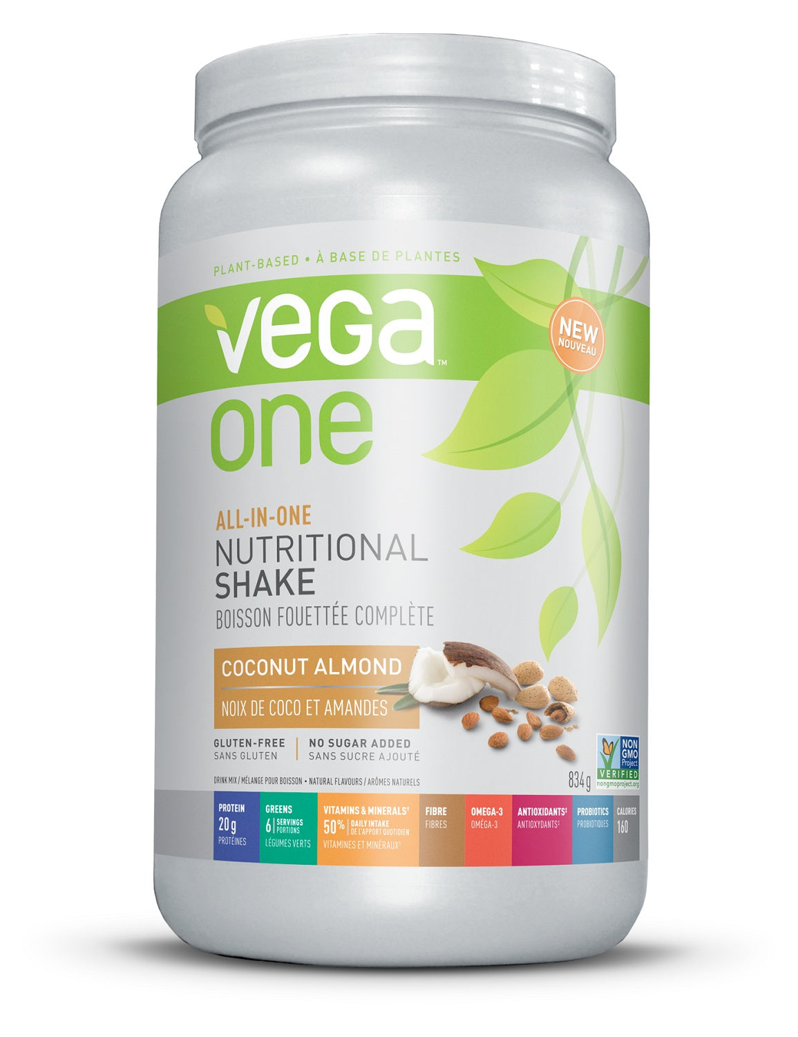 Supplements & Vitamins - Vega - Coconut Almond Nutrition Shake, 834g