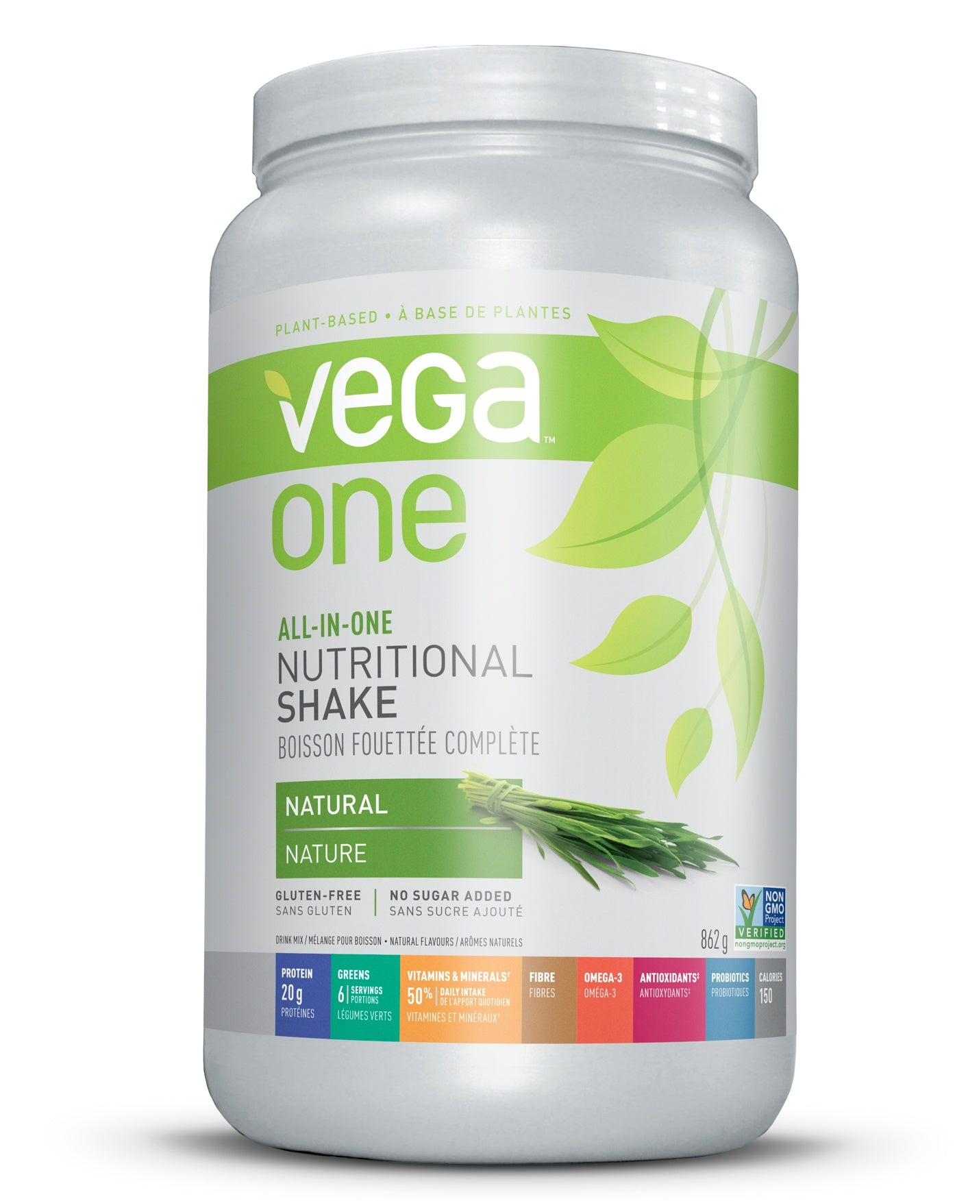 Supplements & Vitamins - Vega - Natural Nutritional Shake, 874g