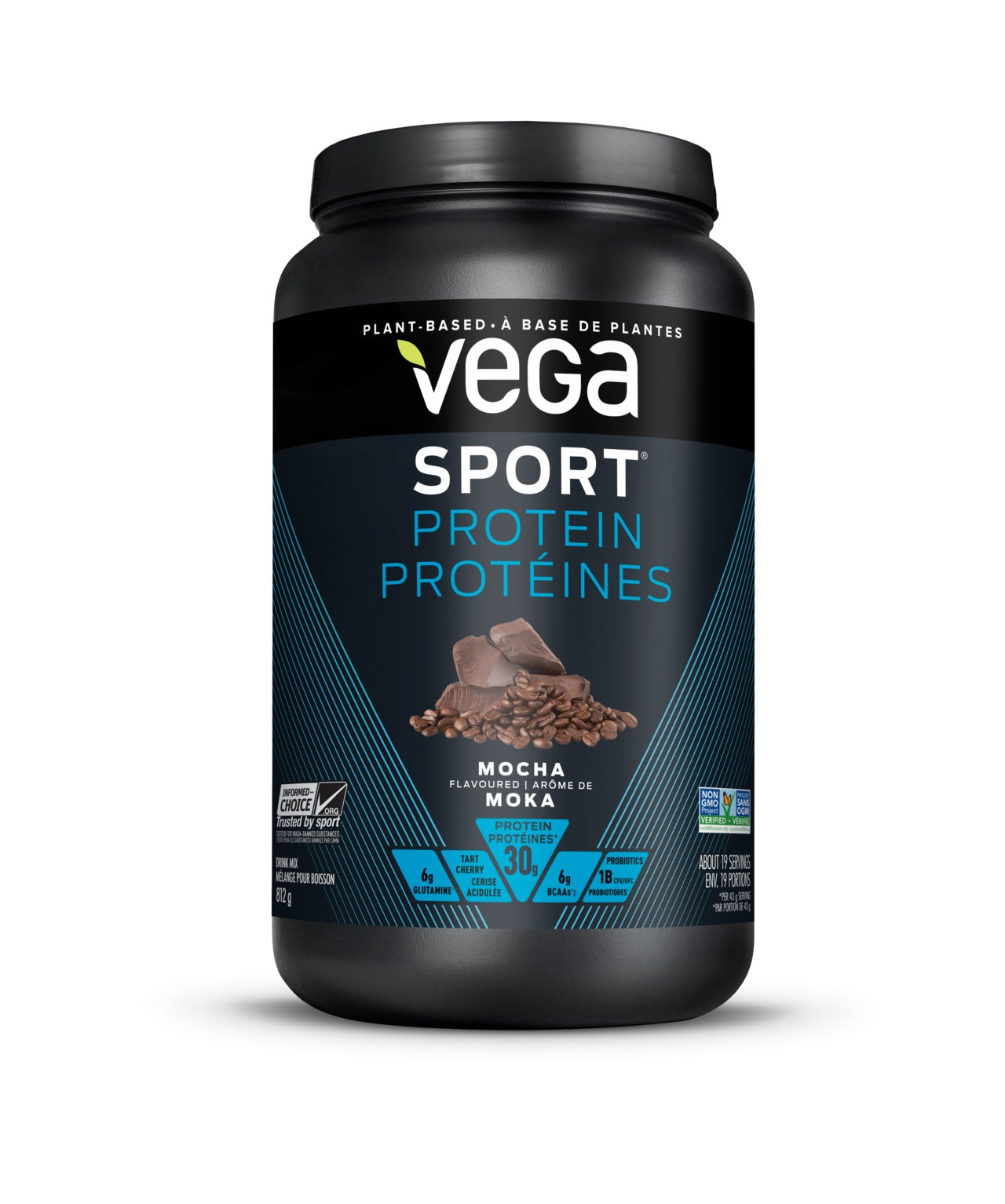 Supplements & Vitamins - Vega - Sport Protein, Mocha, 810g
