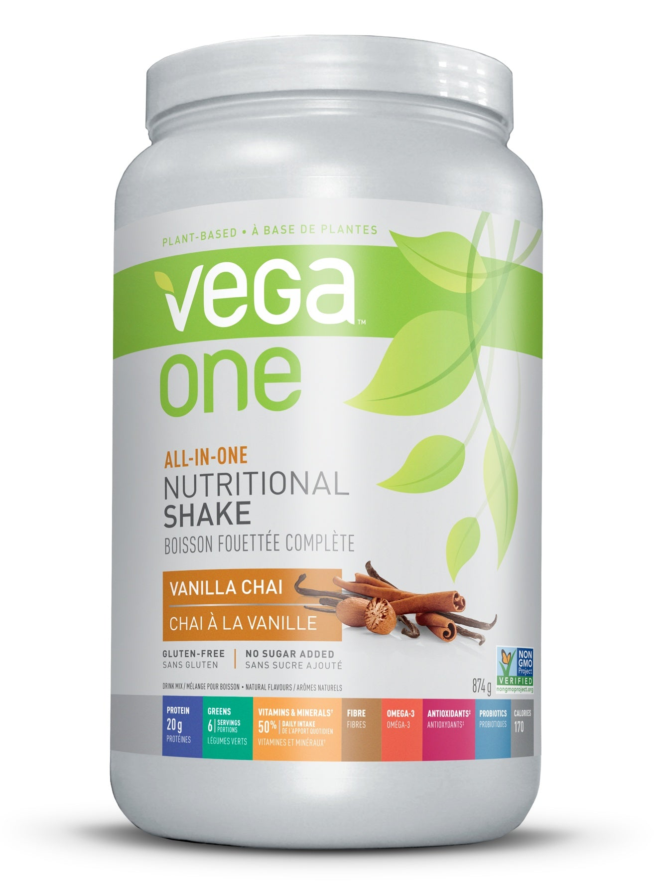 Supplements & Vitamins - Vega - Vanilla Chai Nutritional Shake, 874g