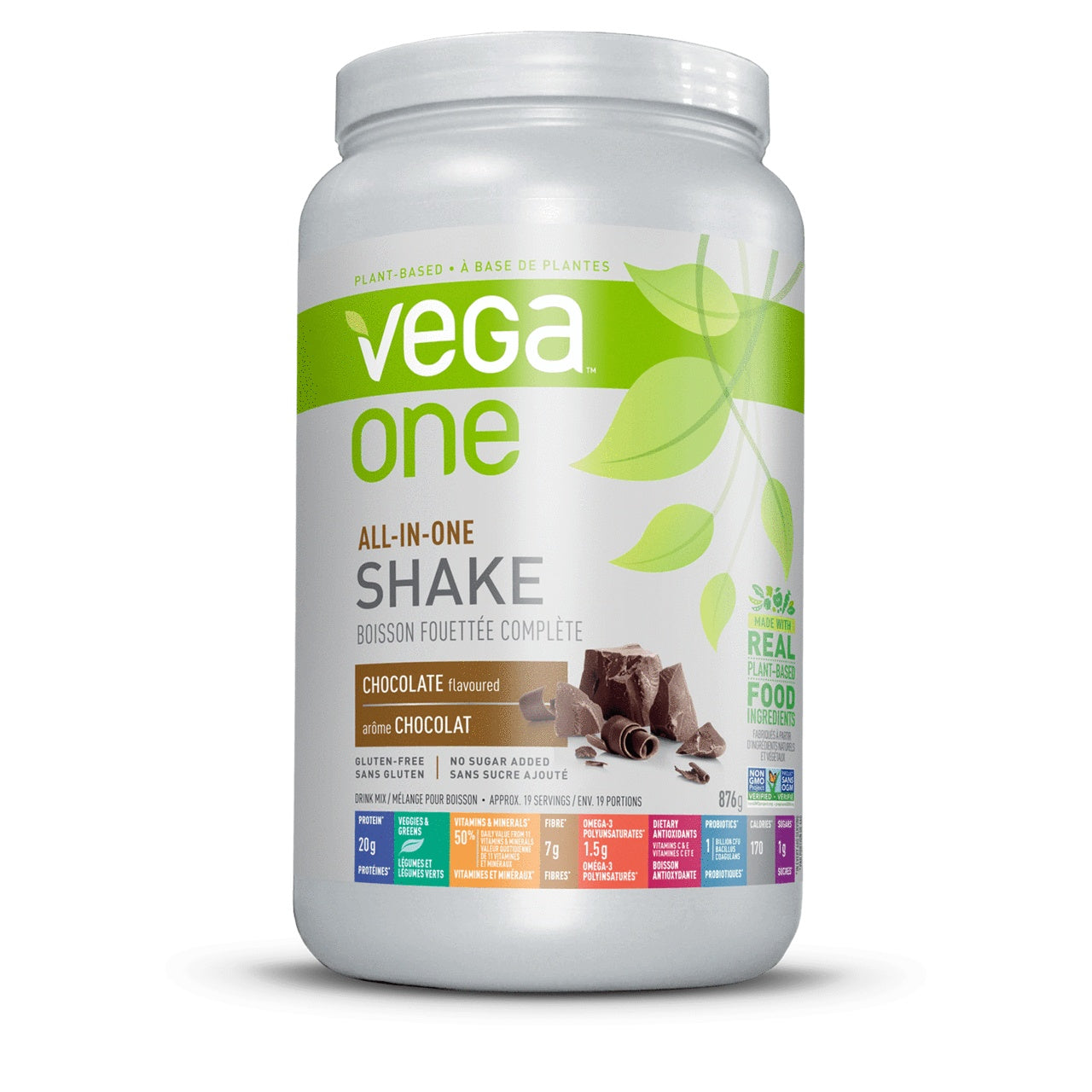 Supplements & Vitamins - Vega - Vega One Nutritional Shake,  Chocolate, 874g