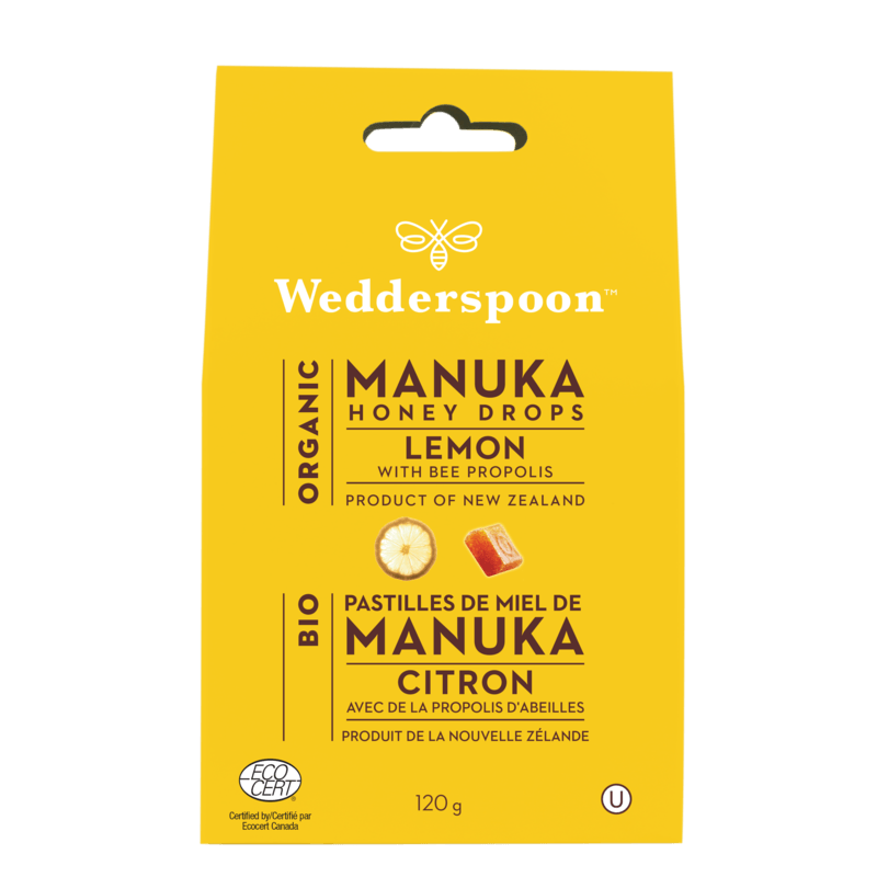 Supplements & Vitamins - Wedderspoon - Organic Manuka Lemon Honey Drops - 130G