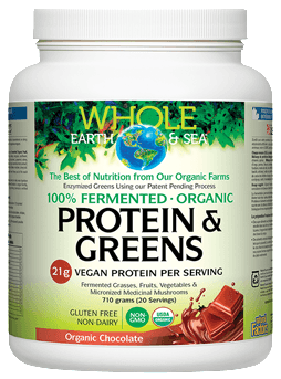 Supplements & Vitamins - Whole Earth & Sea - Chocolate Protein And Greens, 710g