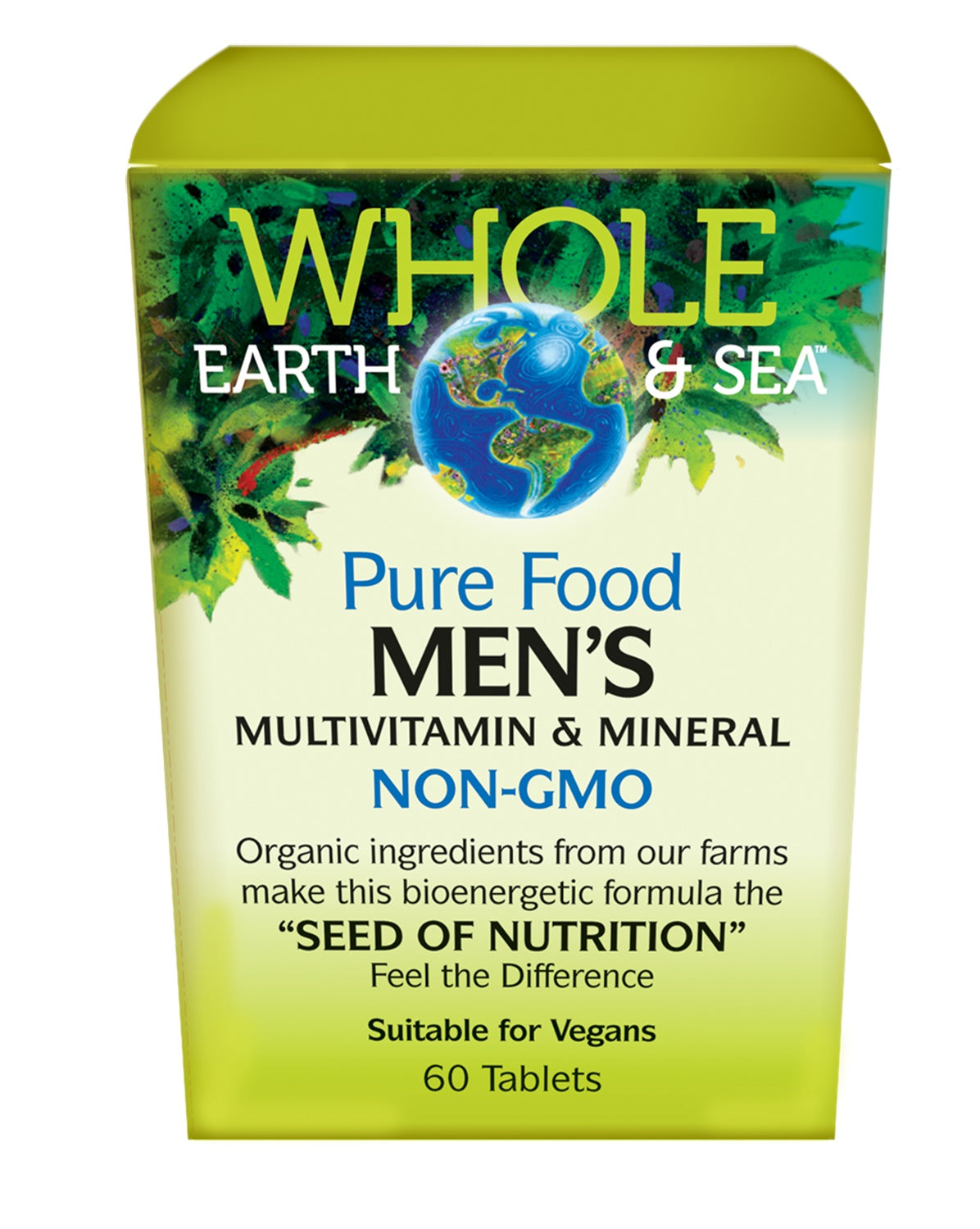 Supplements & Vitamins - Whole Earth & Sea - Men's Multivitamin & Mineral, 60 Tabs