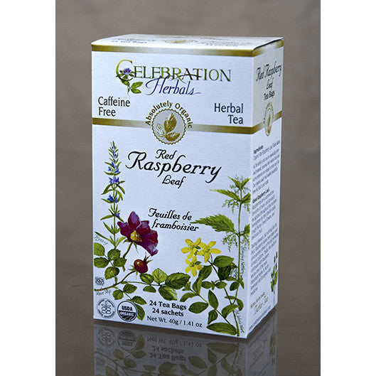 Celebration Herbals - Organic Red Raspberry Leaf Tea, 24 bags - Goodness Me!
