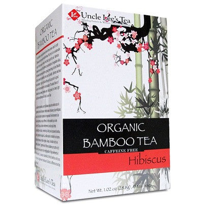 Uncle Lee's - Organic Bamboo Hibiscus Tea, 18 Bags - Goodness Me!