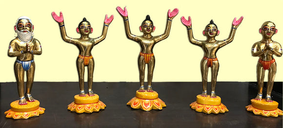 Panca Tattva, the Five Lordships Brass Deity Set - Touchstone Media