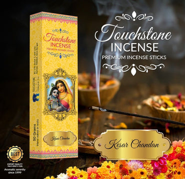 Organic Kesar Chandan Incense for Stimulating Creativity - Touchstone Media