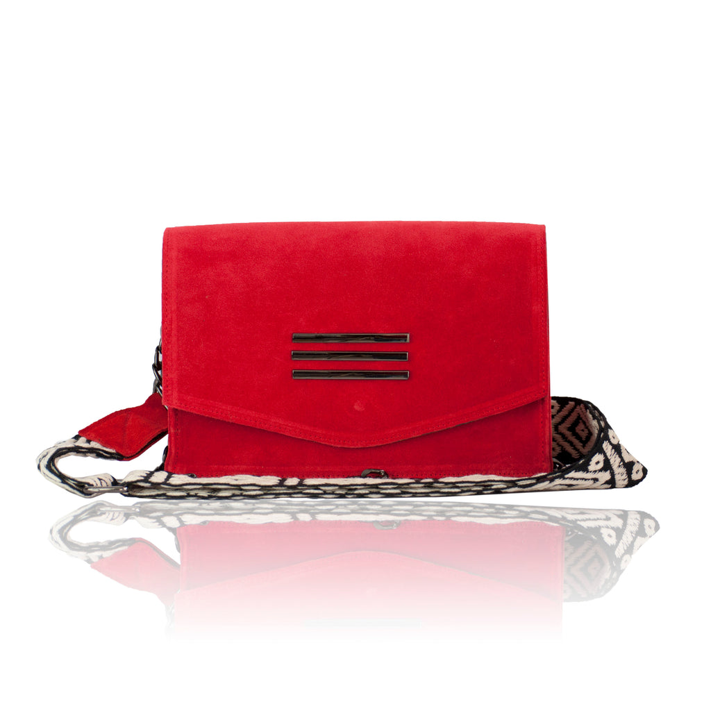 Perla Red Suede