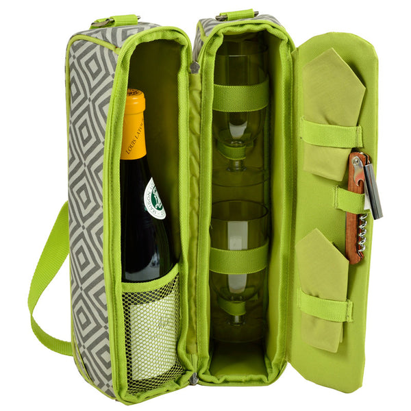 Diamond Granite Sunset Wine Carrier for 2 - The Picnic Store - 1