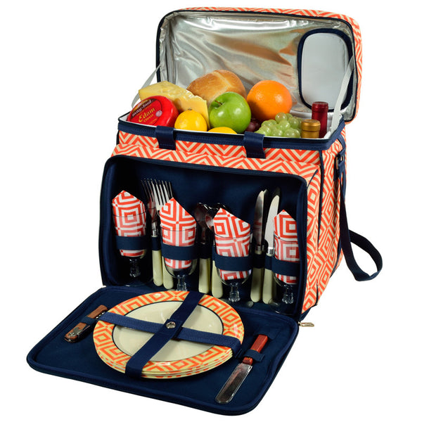 Diamond Orange Picnic Cooler for 4 - The Picnic Store - 1