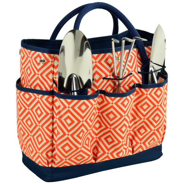 Diamond Orange Gardening Tote with Tools - The Picnic Store - 1