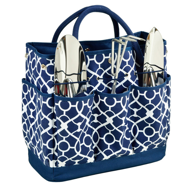 Trellis Blue Gardening Tote with Tools - The Picnic Store