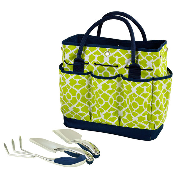 Trellis Green Gardening Tote with Tool - The Picnic Store - 2