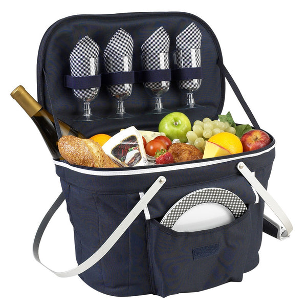 Collapsible Insulated Picnic Basket for 4 - The Picnic Store - 1