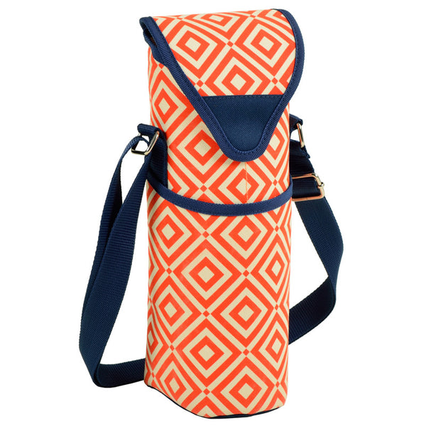 Diamond Orange Single Bottle Tote - The Picnic Store - 1