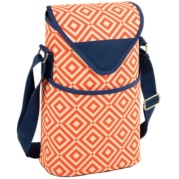 Diamond Orange Two Bottle Tote - The Picnic Store - 1