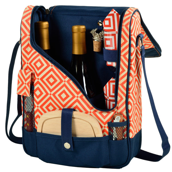 Diamond Orange Pinot Wine and Cheese Cooler for 2 - The Picnic Store - 1