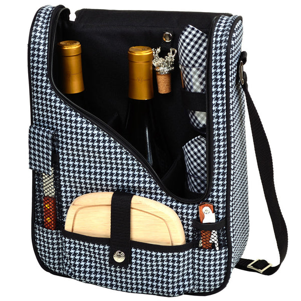 Houndstooth Pinot Wine and Cheese Cooler for 2 - The Picnic Store - 1