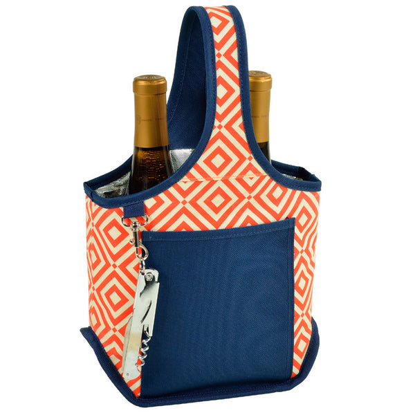 Diamond Orange Two Bottle Carrier - The Picnic Store