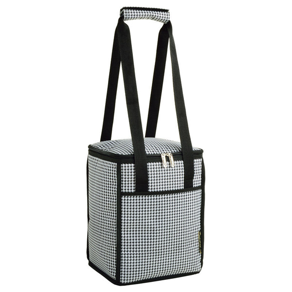 Houndstooth Tall Insulated Cooler - The Picnic Store - 1