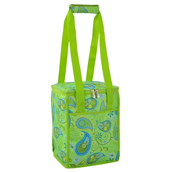 Paisley Green Tall Insulated Cooler - The Picnic Store - 1