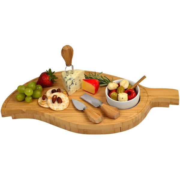 Leaf Cheese Board Set - The Picnic Store - 1