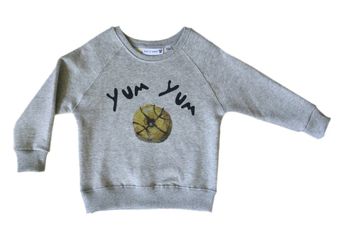 Sweat Shirt Yum Yum Grey