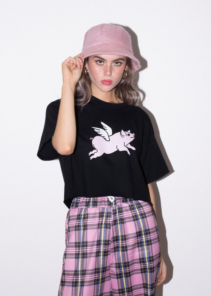 WMNS FLYING PIG CROP TEE