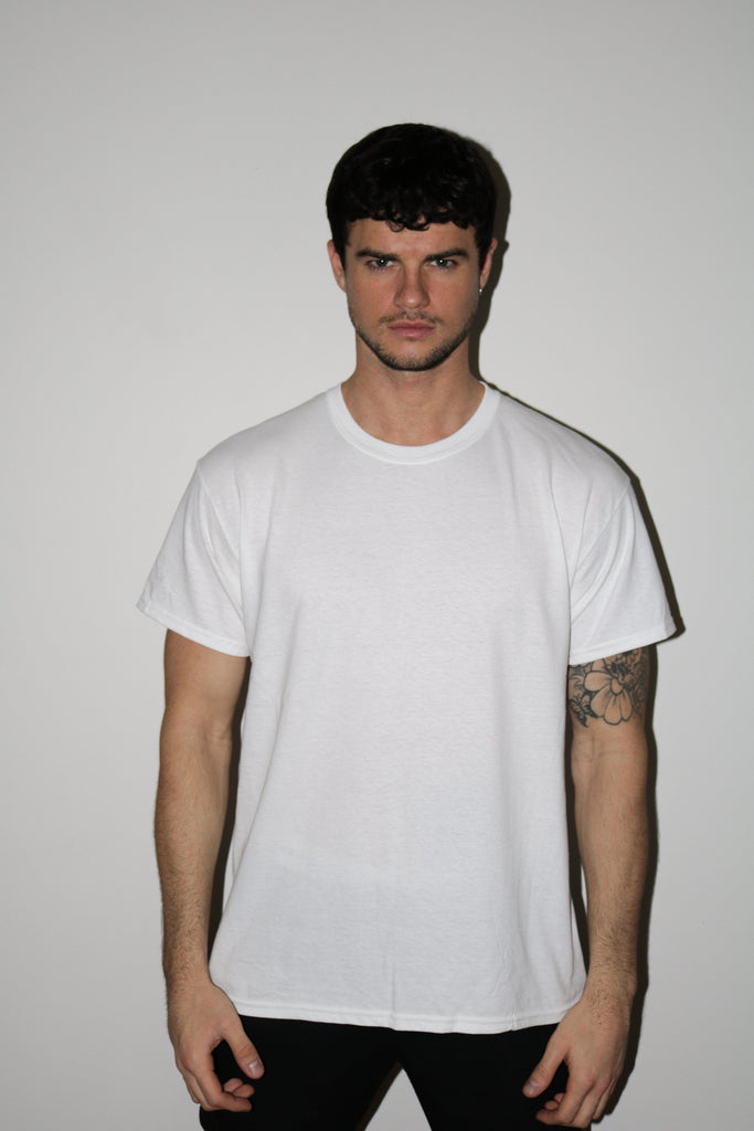 DOUBLE LUCK WHITE TEE