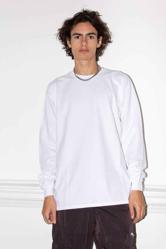 DOUBLE LUCK WHITE LONGSLEEVE TEE