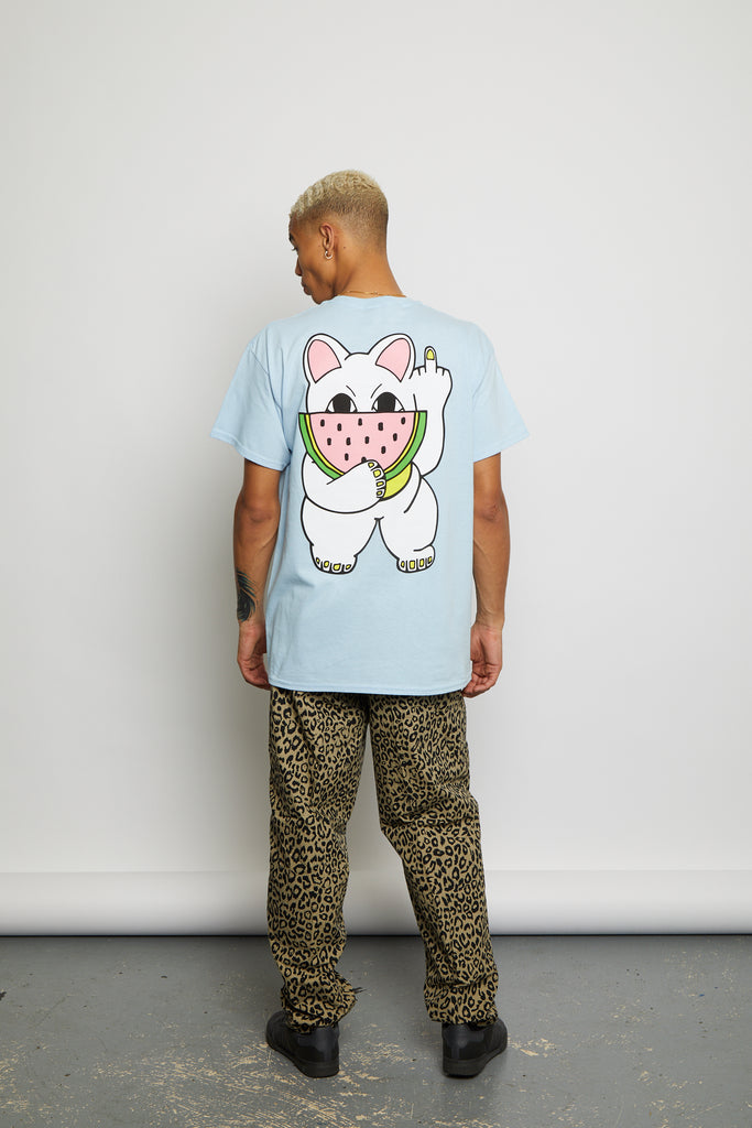 MELON CAT BLUE TEE