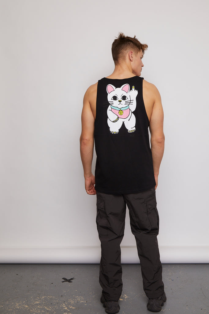 CHEEKY CAT BACK PRINT VEST