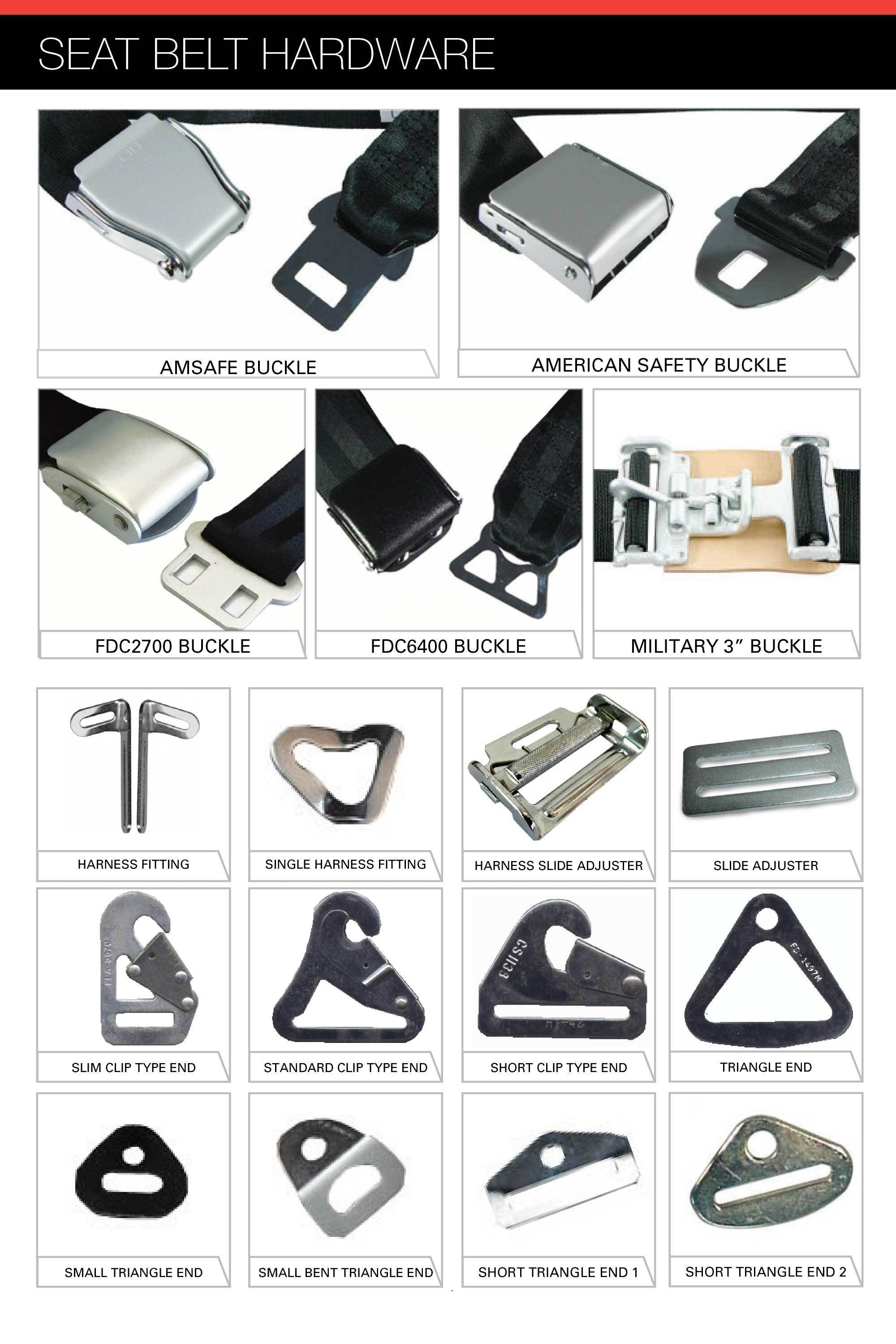 Aircraft Seat Belt Hardware
