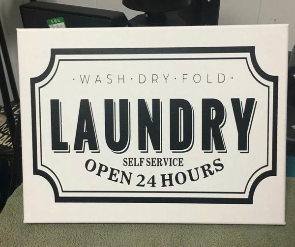 Laundry Room Sign Handmade Canvas Wall Hanging