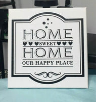 Home Sweet Home Canvas Wall Hanging