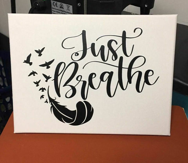 Just Breathe Wall Hanging 9x12 pic 1