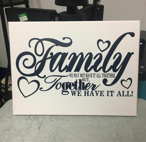 Family Handmade Canvas Wall Hanging