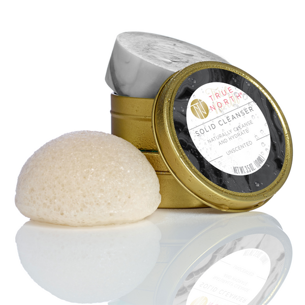 Solid Cleanser & Konjac Sponge - UnScented Collection