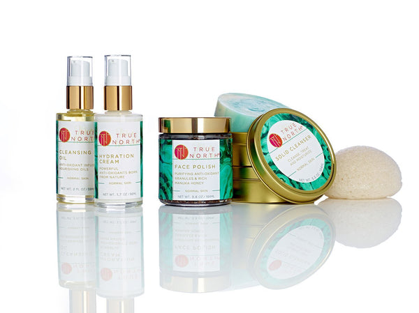 True North, hydration cream, moisturizer, natural moisturizer, dry skin, natural ingredients, True North Beauty, luxury, natural skincare, natural, chaga skincare, chaga,  organic skincare, Chaga Infused Formula, Maine made, cruelty free, anti-aging, antioxidants, cleansing oil, face polish, solid cleanser, Heather Lux, aging skin, acne