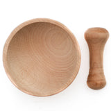 Freda Wooden Mortar & Pestle