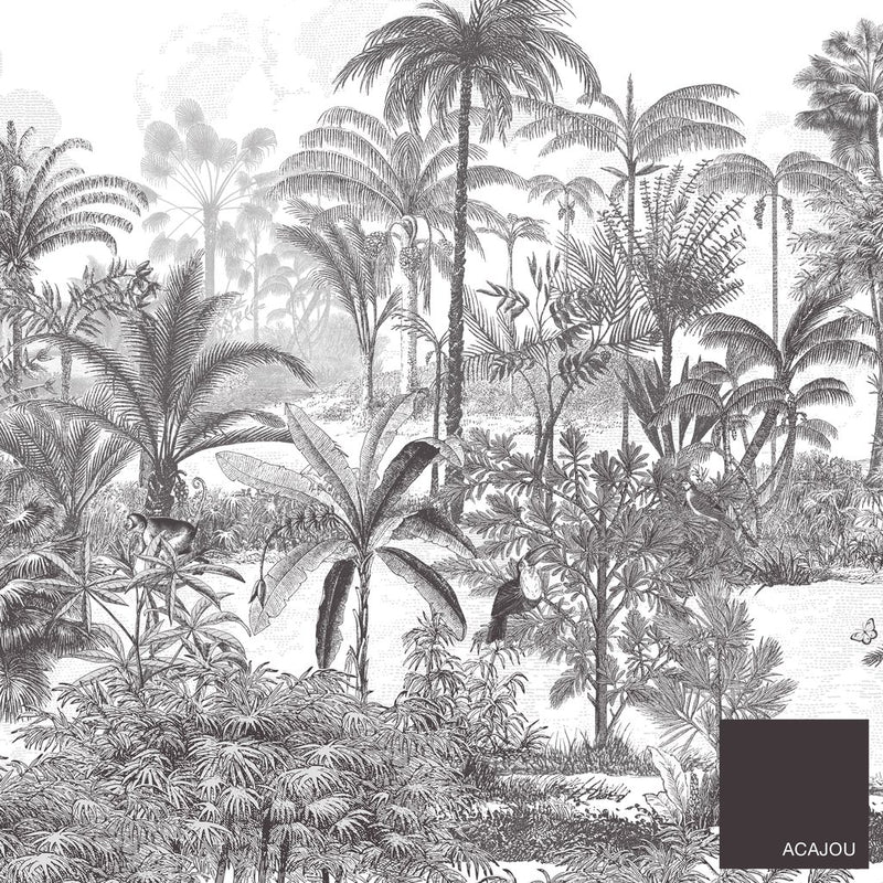 jungle papier peint decor panoramique tropical amazone foret français Isidore Leroy