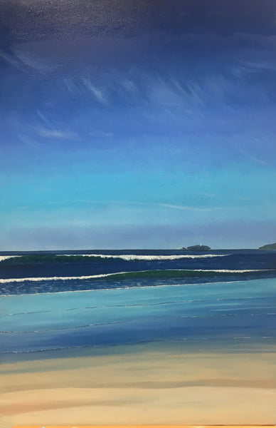 Receding Tide at Godrevy . Limited Edition Print (1/25)