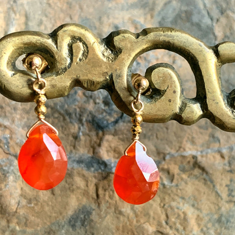 Carnelian Pendant Earrings