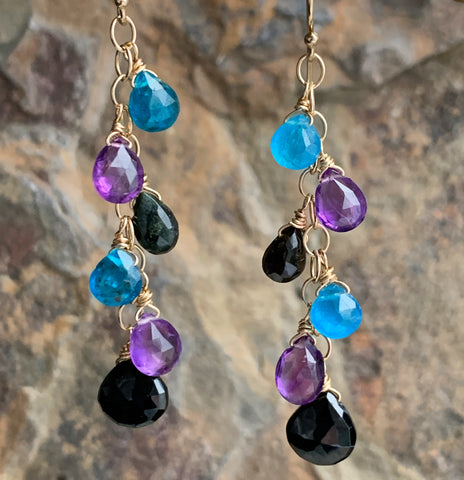 Black and Blue Orchid Drops