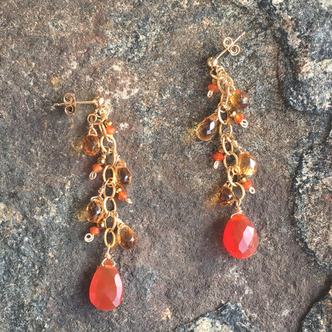 Carnelian and Citrine Garland