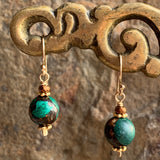 Malachite and Copper Orbs