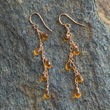 Citrine Drops on Rose Chain